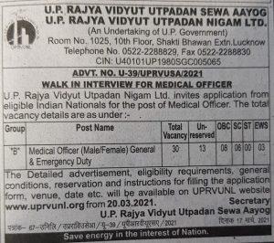 UPRVUNL Recruitment 2021